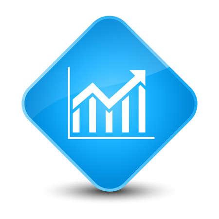 Statistics icon isolated on elegant cyan blue diamond button abstract illustration Stock Photo