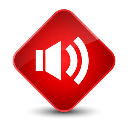 Volume icon isolated on elegant red diamond button abstract illustration