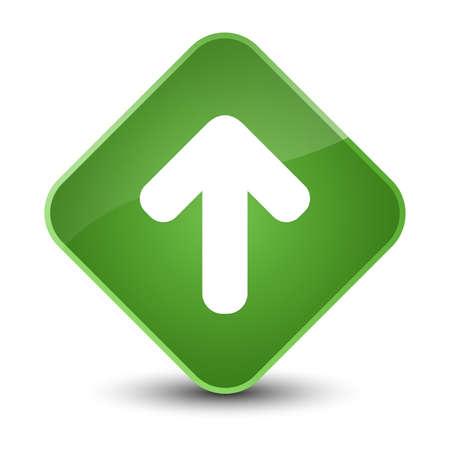 Upload arrow icon isolated on elegant soft green diamond button abstract illustration Standard-Bild