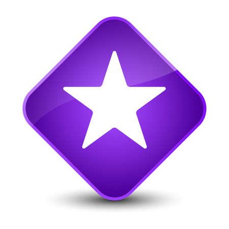 diamond: Star icon isolated on elegant purple diamond button abstract illustration Stock Photo