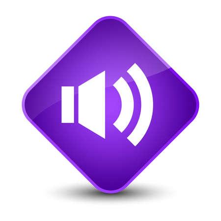 waves: Volume icon isolated on elegant purple diamond button abstract illustration Stock Photo