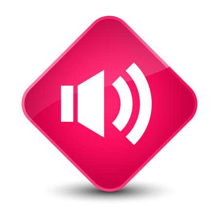 diamond: Volume icon isolated on elegant pink diamond button abstract illustration Stock Photo