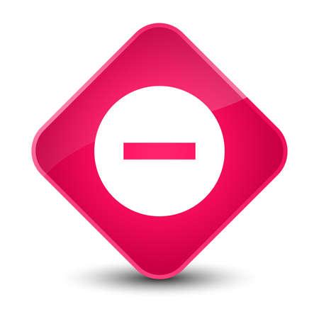 Cancel icon isolated on elegant pink diamond button abstract illustration Stock Photo
