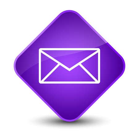 envelope: Email icon isolated on elegant purple diamond button abstract illustration Stock Photo