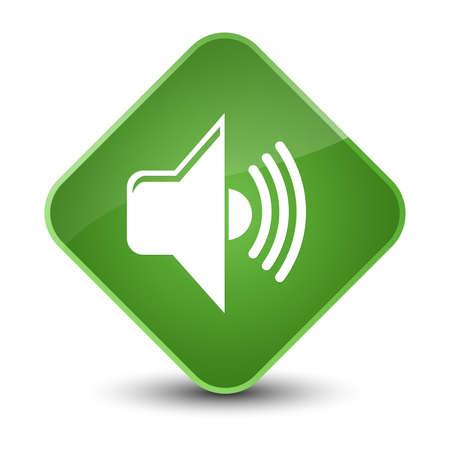 Volume icon isolated on elegant soft green diamond button abstract illustration
