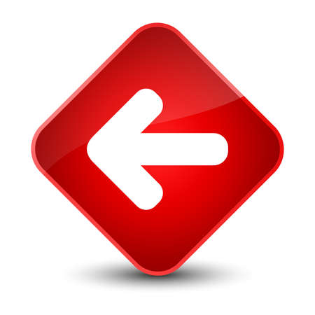 Back arrow icon isolated on elegant red diamond button abstract illustration Stock Photo