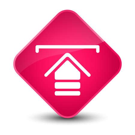 Upload icon isolated on elegant pink diamond button abstract illustration