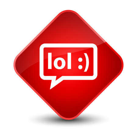 humor: LOL bubble icon isolated on elegant red diamond button abstract illustration Stock Photo
