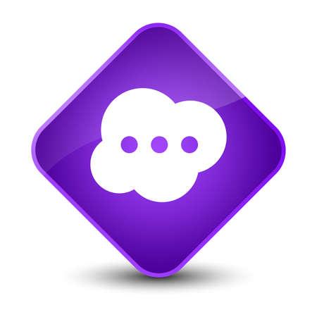 people icon: Brain icon isolated on elegant purple diamond button abstract illustration Stock Photo