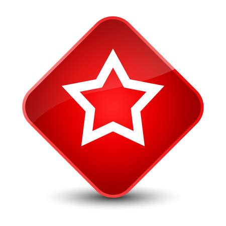stars: Star icon isolated on elegant red diamond button abstract illustration
