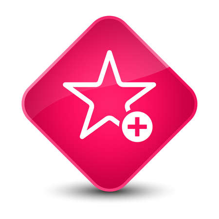 Add to favorite icon isolated on elegant pink diamond button abstract illustration Stock Photo