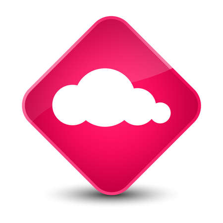 cloud: Cloud icon isolated on elegant pink diamond button abstract illustration Stock Photo