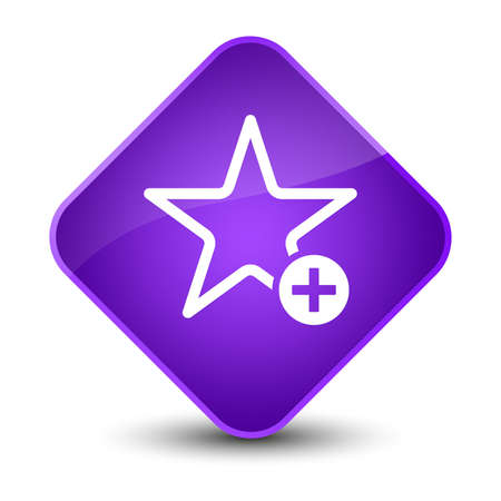 Add to favorite icon isolated on elegant purple diamond button abstract illustration