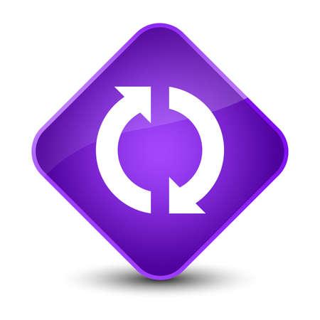 improving: Update icon isolated on elegant purple diamond button abstract illustration