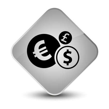 diamond: Finances icon isolated on elegant white diamond button abstract illustration