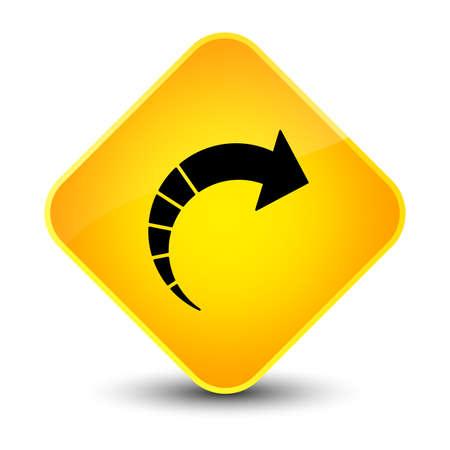 next icon: Next arrow icon isolated on elegant yellow diamond button abstract illustration