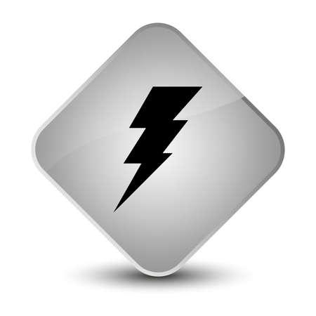 Electricity icon isolated on elegant white diamond button abstract illustration Stock Photo