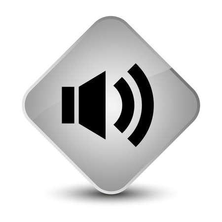 wave: Volume icon isolated on elegant white diamond button abstract illustration