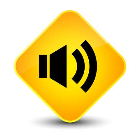 diamond: Volume icon isolated on elegant yellow diamond button abstract illustration Stock Photo