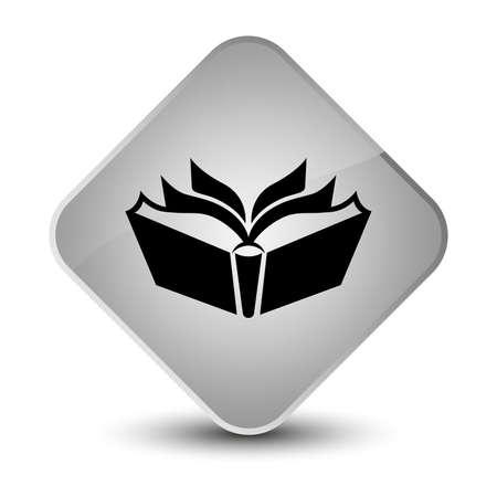 diamond: Translation icon isolated on elegant white diamond button abstract illustration Stock Photo