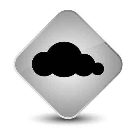 diamond: Cloud icon isolated on elegant white diamond button abstract illustration
