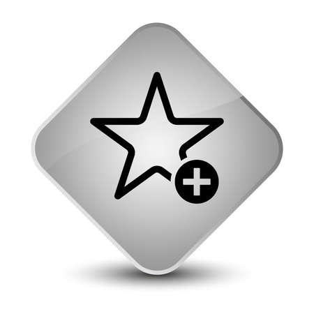 diamond: Add to favorite icon isolated on elegant white diamond button abstract illustration