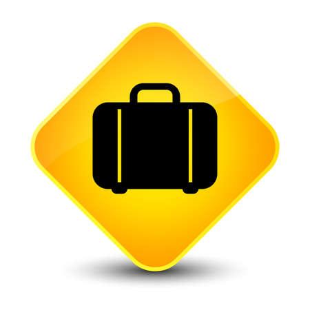 diamond: Bag icon isolated on elegant yellow diamond button abstract illustration Stock Photo