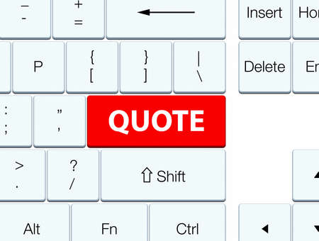 recite: Quote isolated on red keyboard button abstract illustration