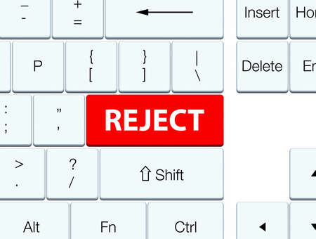 rejected: Reject isolated on red keyboard button abstract illustration