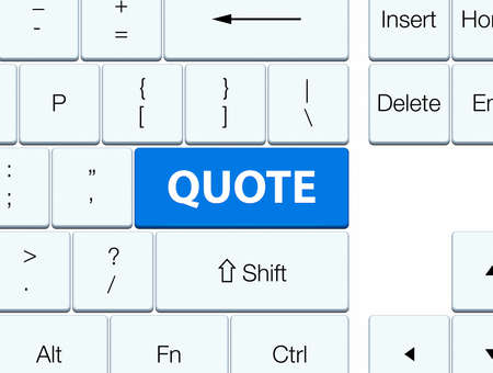 recite: Quote isolated on blue keyboard button abstract illustration