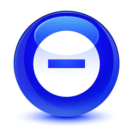 Cancel icon isolated on glassy blue round button abstract illustration