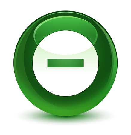 Cancel icon isolated on glassy soft green round button abstract illustration Stock Photo