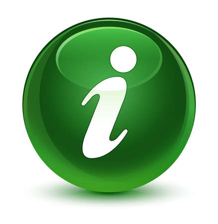 inform information: Info icon isolated on glassy soft green round button abstract illustration Stock Photo