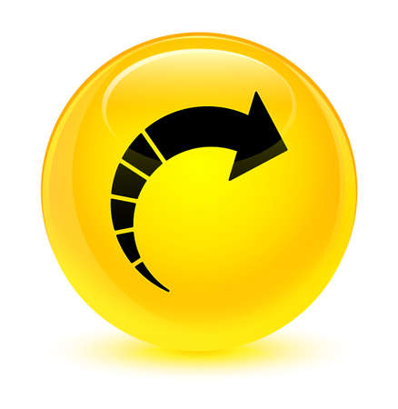 Next arrow icon isolated on glassy yellow round button abstract illustration