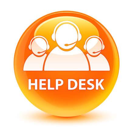 Help Desk (Kundenbetreuung Team-Symbol) isoliert auf glasigen orange Runde Schaltfläche abstrakte Darstellung Standard-Bild - 81926760