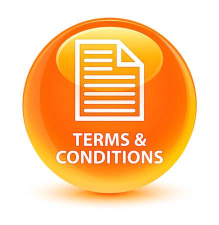 Termes et conditions (icône de la page) isolés sur illustration abstraite du bouton rond orange orange Banque d'images - 81927413