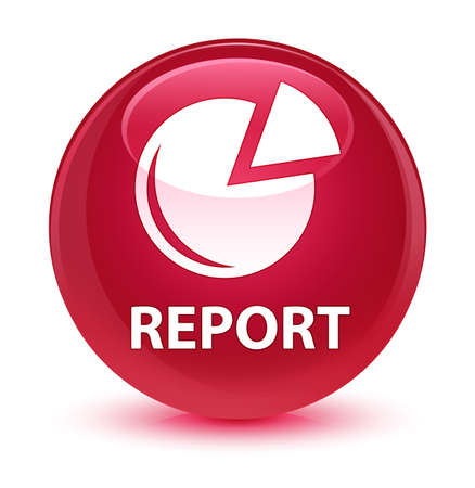 graphic: Report (graph icon) isolated on glassy pink round button abstract illustration Stock Photo