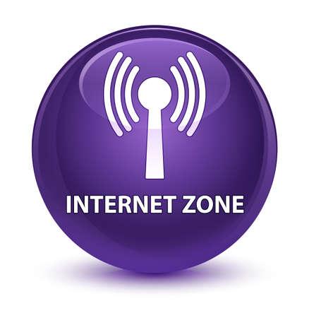 Zone internet (réseau wlan) isolé sur violet violet Touche ronde Illustration abstraite Banque d'images - 82064904