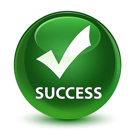 validate: Success (validate icon) isolated on glassy soft green round button abstract illustration