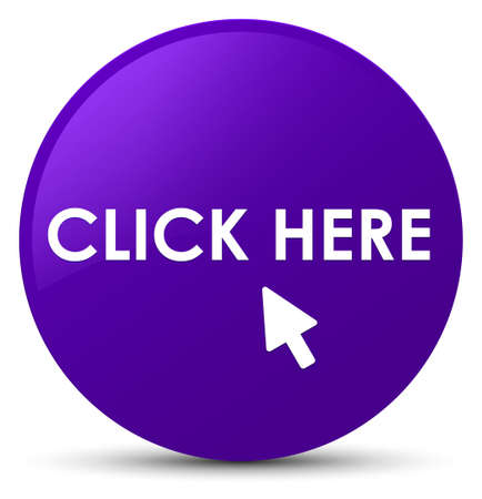 Click here isolated on purple round button abstract illustration