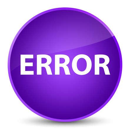 Error isolated on elegant purple round button abstract illustration
