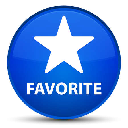 Favorite (star icon) isolated on special blue round button abstract illustration Stock Photo