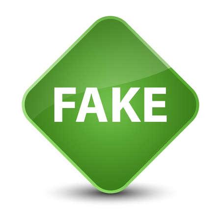 Fake isolated on elegant soft green diamond button abstract illustration