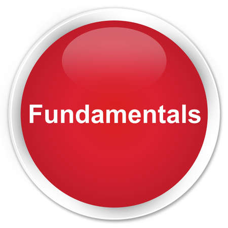Fundamentals isolated on premium red round button abstract illustration Stock Photo