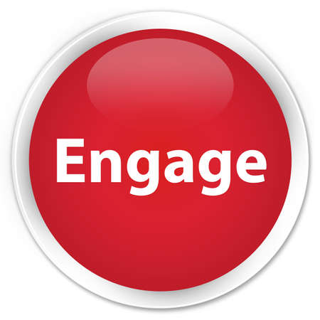 Engage isolated on premium red round button abstract illustration