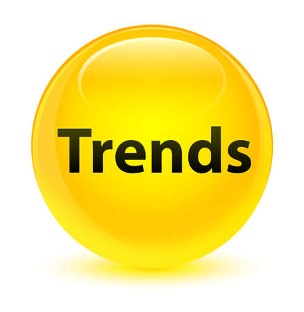 drift: Trends isolated on glassy yellow round button abstract illustration