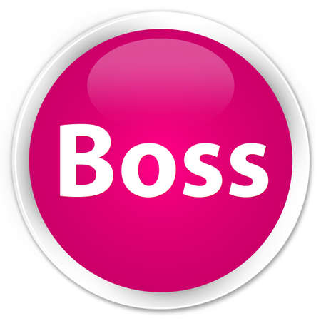 Boss isolated on premium pink round button abstract illustration