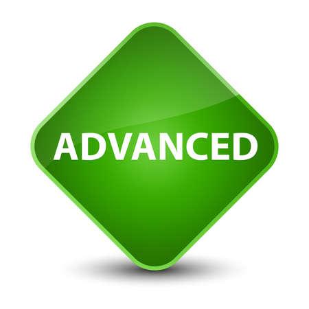 Advanced isolated on elegant green diamond button abstract illustration Stock Photo