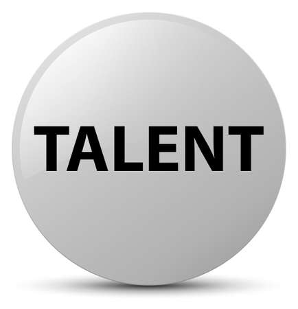 Talent isolated on white round button abstract illustration