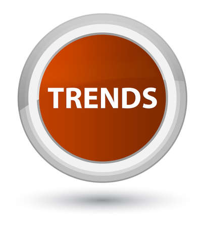 Trends isolated on prime brown round button abstract illustration Stok Fotoğraf